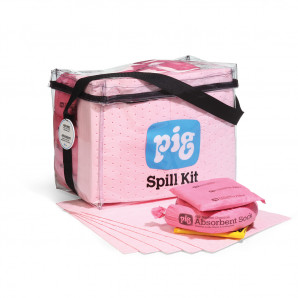 PIG® HazMat Clear Cube Bag Spill Kit